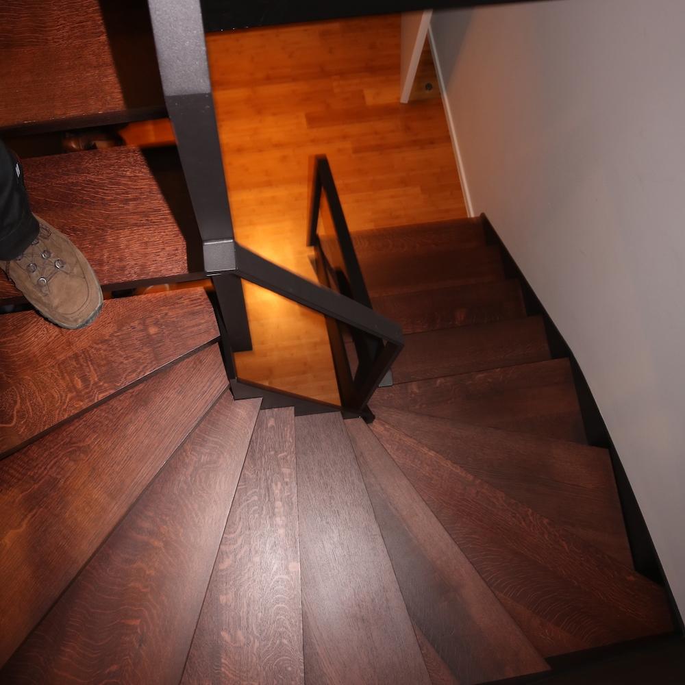 Escalier en acier laqué