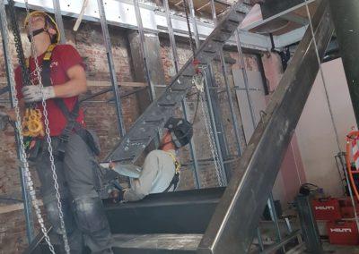 Escalier industriel en acier