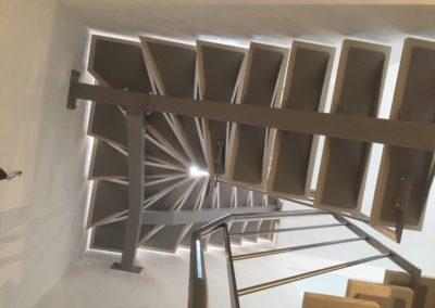 Escalier deux quarts tournant sur mesure