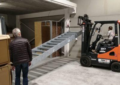 placement escalier galvanisé